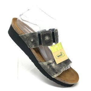 Naot Ashley Sandal Flat Pewter Metallic Leath